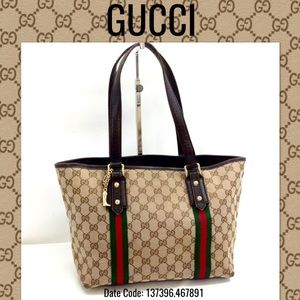Gucci tote bag sherry line Shoulder bag canvas